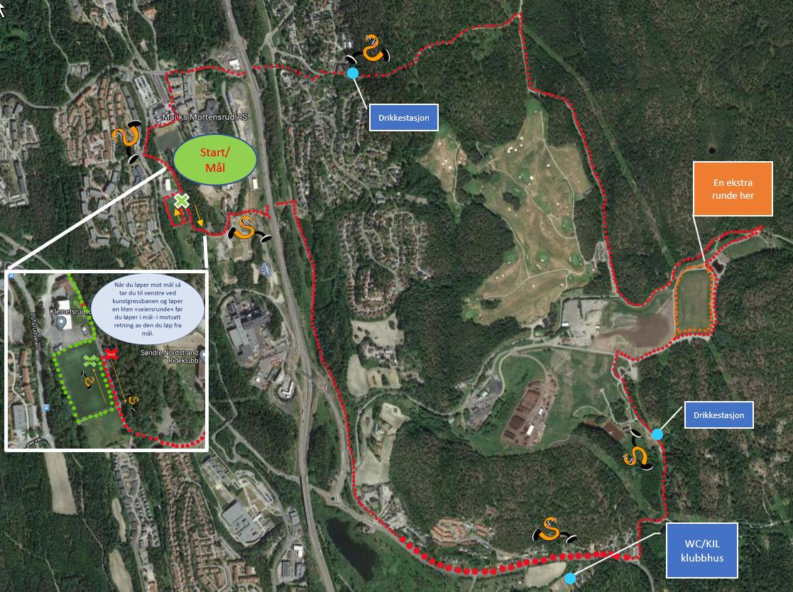 10 km Kart med mål